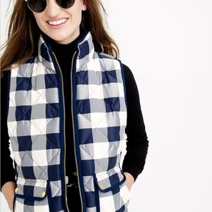 J. Crew Excursion Quilted Vest in Buffalo Check M